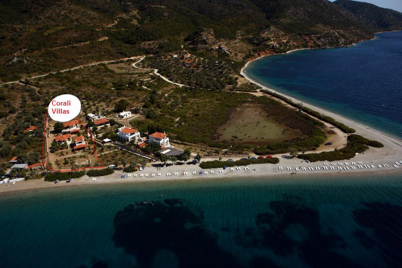 Corali Villas on Agios Dimitrios Beach on Alonissos