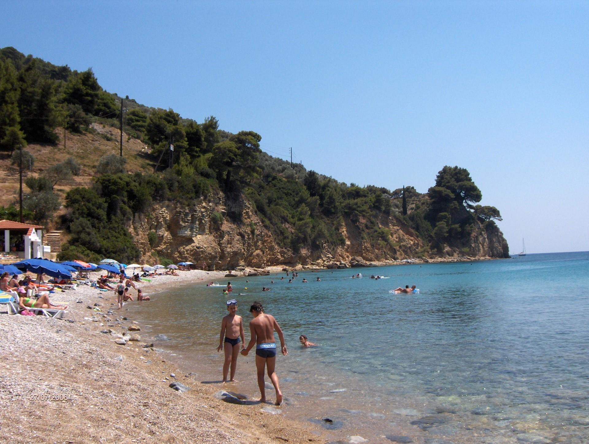 Megalos Mourtias Beach on Alonissos