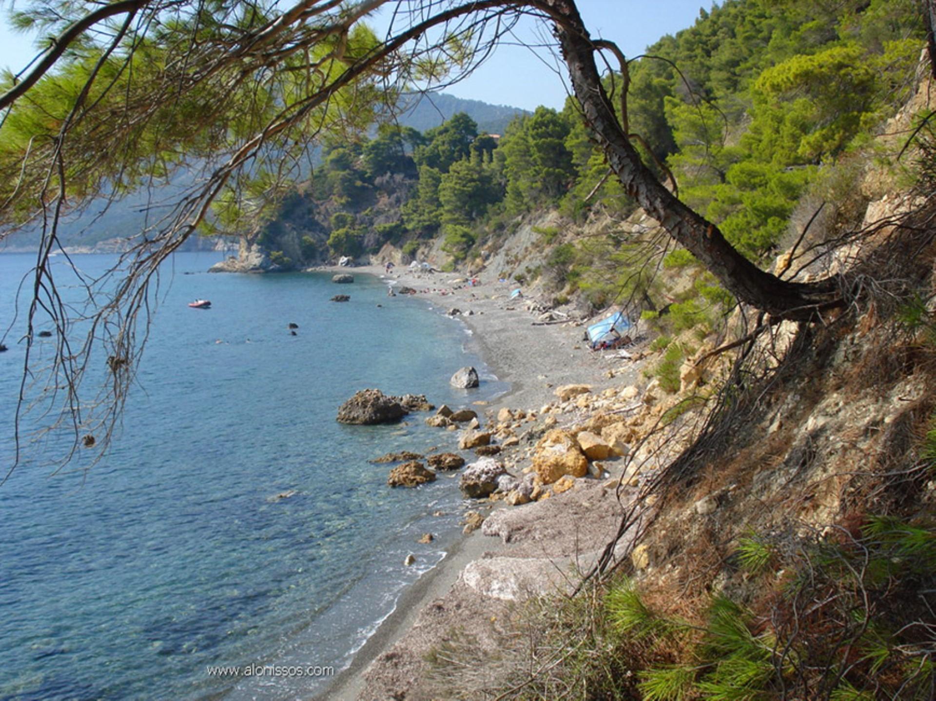 Vithisma Beach on Alonissos